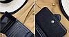 Кошелек женский тройного сложения черный с пряжечкой., фото 4