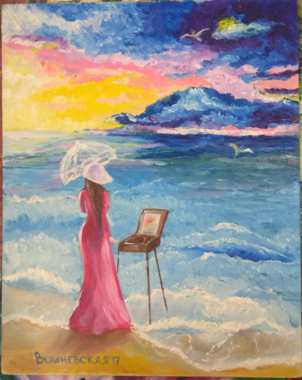 Картина на двп 40-50 Вдохновение
