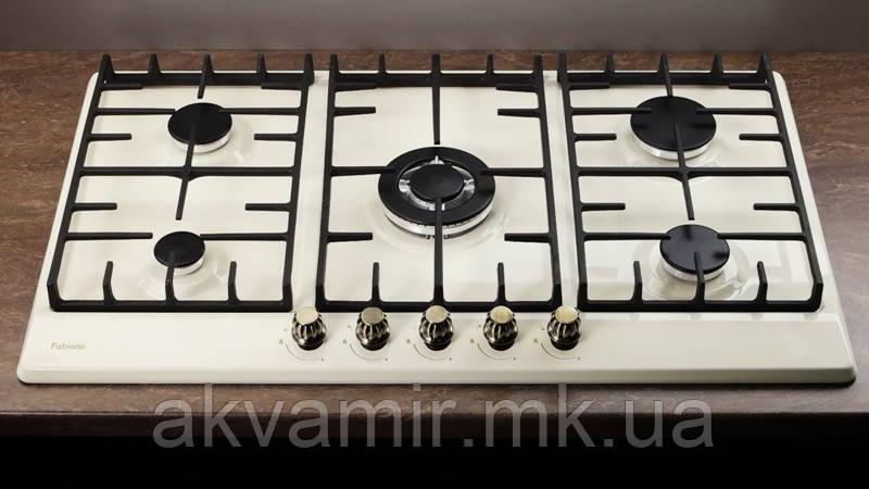 Варочная панель Fabiano FHG-R 27-95 VGH-T Ivory (слоновая кость) газовая