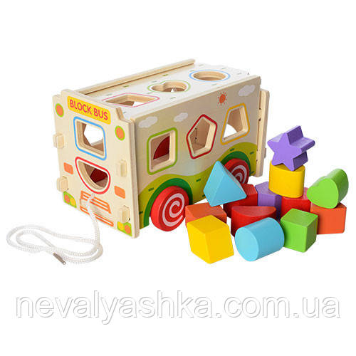 Деревянная игрушка Сортер + Каталка, MD 2094 1023, 003681