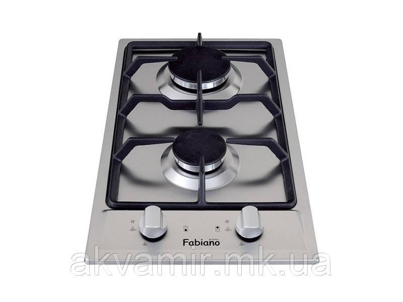 Варильна панель Fabiano FHG 13-2 VGH Inox (нерж. сталь) доміно газ