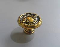 GU-W7018 Ручка кнопка классика, античное золото, фото 1