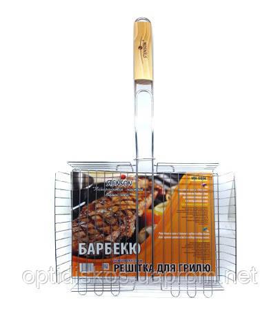 Решетка для барбекю Stenson 64x31x26x6,5см