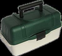 Ящик Aquatech 2703 для рыбалки, 3 полки, ударопрочный и термостойкий пластик, рыбацкий ящик, ящик для рыбацких снастей