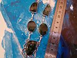 Моховий агат намисто з натуральним моховим агатом в сріблі, фото 6