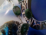 Моховий агат намисто з натуральним моховим агатом в сріблі, фото 4