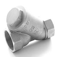 Фильтр для очистки воды латунный резьбовой Y-обр. GENEBRE тип 3302 Ду32 Ру16, фото 1