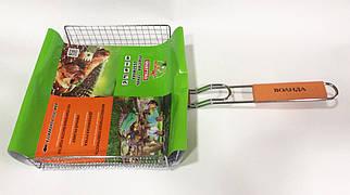 Сетка для гриля  с  деревянной ручкой 28х25 см