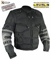Мужская текстильная мотокуртка Xelement  CF5050 из кордуры с защитой плеч и торса со съёмными рукавами