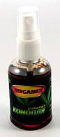 """Спрей Мегамикс """"Конопля"""" для рыбалки, объем 50мл, спрей для прикормки рыбы Мегамикс, спрей конопляный для ловли рыбы Мегамикс"""