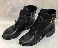 Кожаные женские ботинки, фото 1