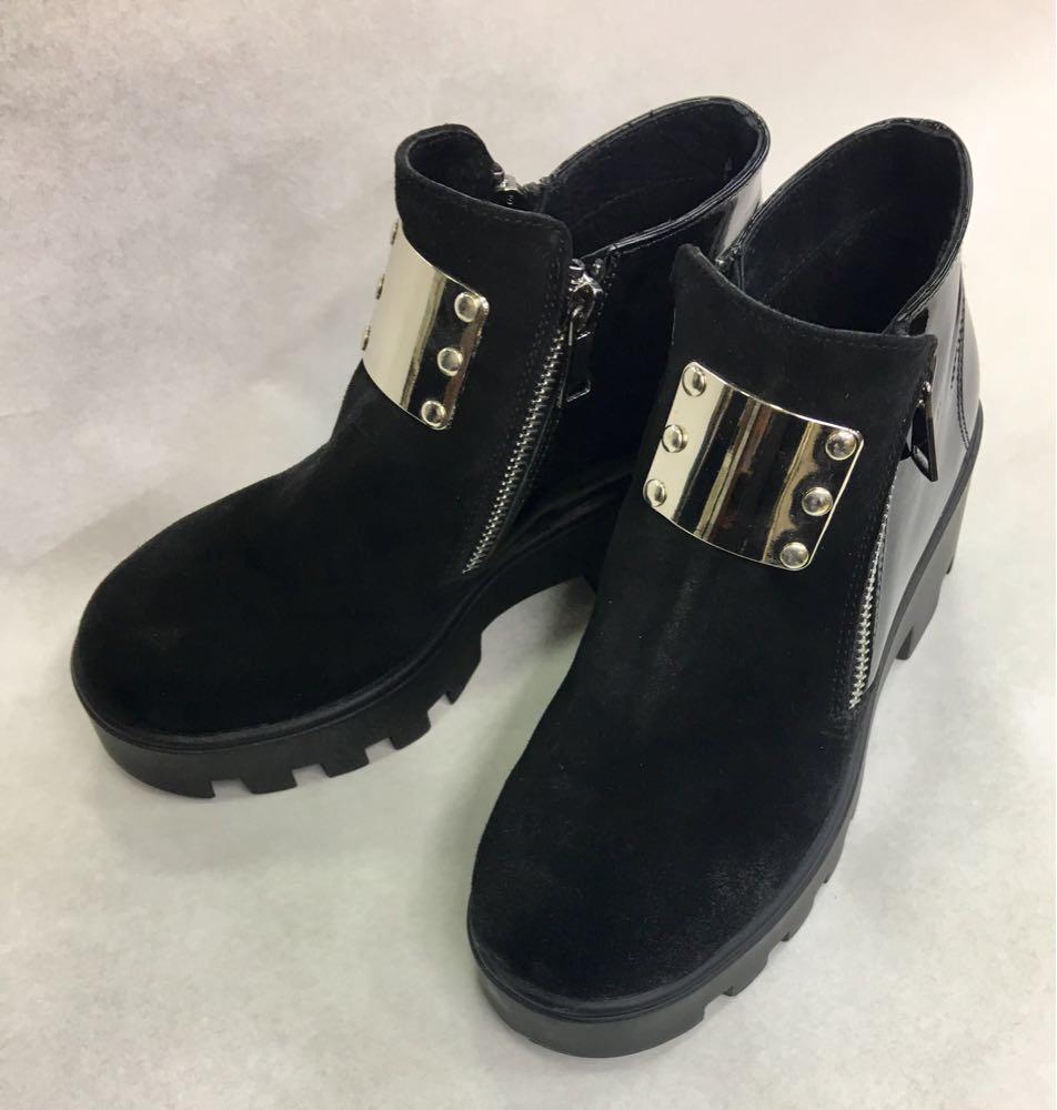 Кожаные женские ботинки 37 р