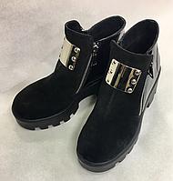 Кожаные женские ботинки 37 р, фото 1