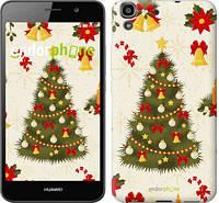 "Чехол на Huawei Y6 Новогодняя елка ""4198c-333-571"""