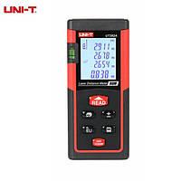 Лазерный дальномер ( лазерная рулетка ) UNI-T UT392A (0,046-80 м) проводит измерения V, S, H, память 30, фото 1