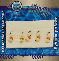 """Мормышка ПМ """"Капля"""" для рыбной ловли, с кристалами Swarovski 3, 0.4гр, вольфрам 822, вольфрамовая мормышка Профмонтаж, мормышка для зимней рыбалки"""