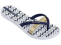 Женские летние вьетнамки Ipanema Kirey Silk III White/Blue 82289-24495
