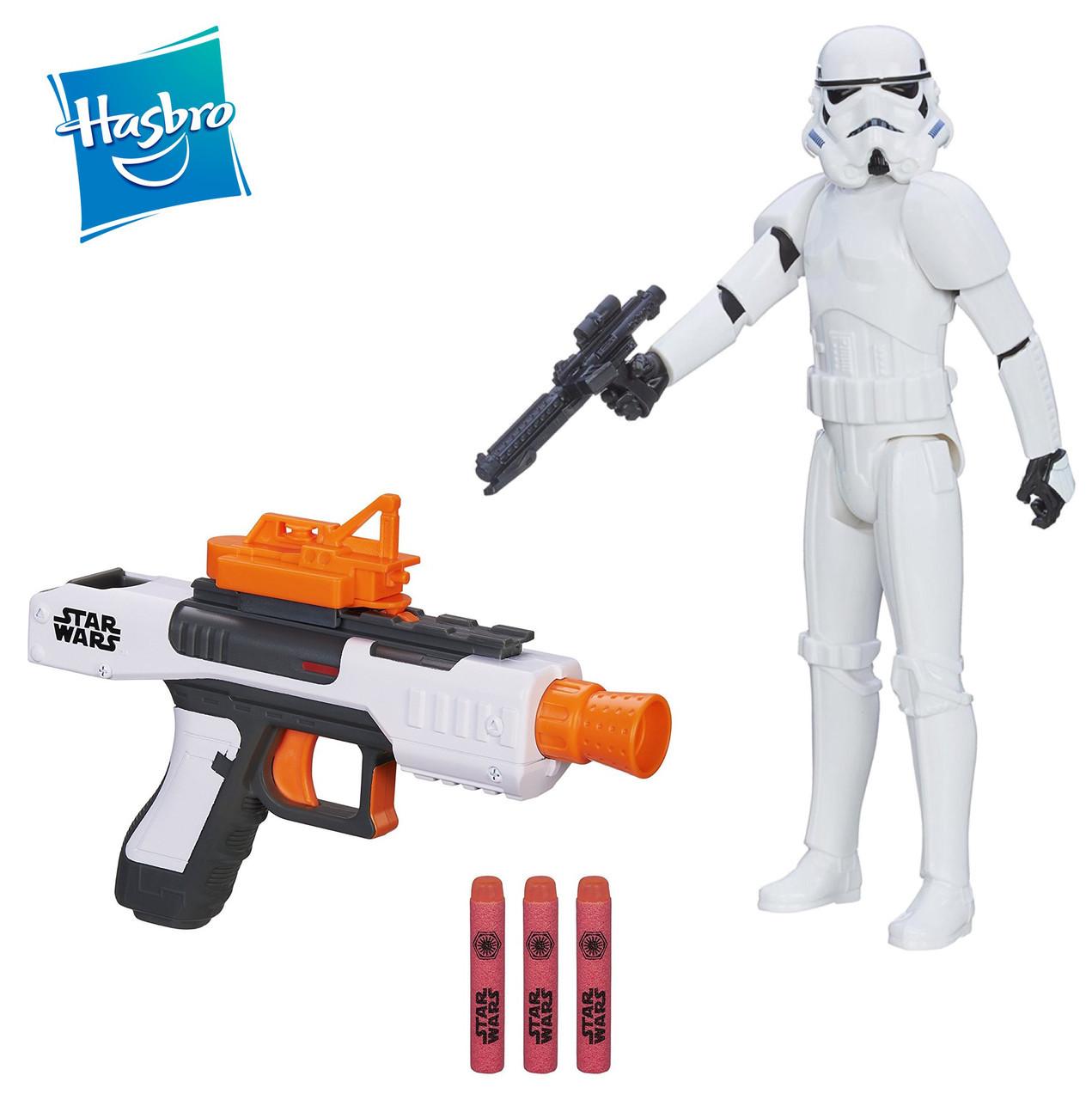 Бластер Штурмовика + фигурка 30 см в подарок Star Wars, Nerf, Hasbro