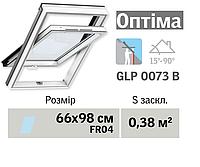 Мансардне вікно VELUX Оптіма ПВХ (нижня ручка, 66*98 см, вологостійке)
