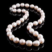 Перли персиковий, намисто, 380БСЖ, фото 1