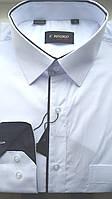 Праздничная белая рубашка ENRICO (размеры 39,43,46 + под заказ)
