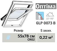 Мансардне вікно VELUX Оптіма ПВХ (нижня ручка, 55*78 см, вологостійке)