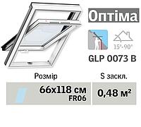 Мансардне вікно VELUX Оптіма ПВХ (нижня ручка, 66*118 см, вологостійке)