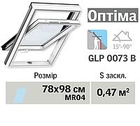 Мансардне вікно VELUX Оптіма ПВХ (нижня ручка, 78*98 см, вологостійке)