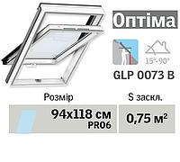 Мансардне вікно VELUX Оптіма ПВХ (нижня ручка, 94*118 см, вологостійке)