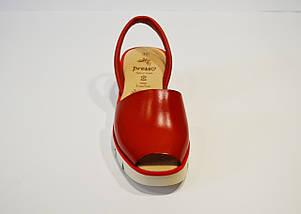 Красные кожаные босоножки Presso, фото 3