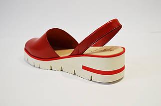 Красные кожаные босоножки Presso, фото 2