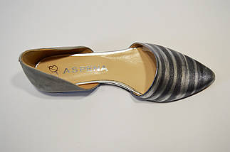 Балетки серебристые Aspena 1110, фото 3