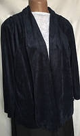 Кардиган женский большой размер, Joanna Hope, темно синий, трикотаж под замшу размер 30(58/60), фото 1