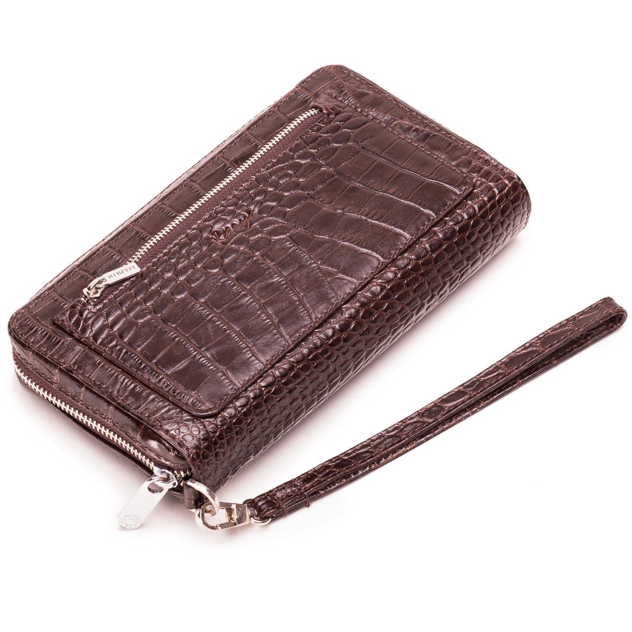 Мужской клатч кожаный коричневый Karya 0713-57