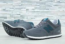 Мужские кроссовки New Balance 574 серые топ реплика, фото 3