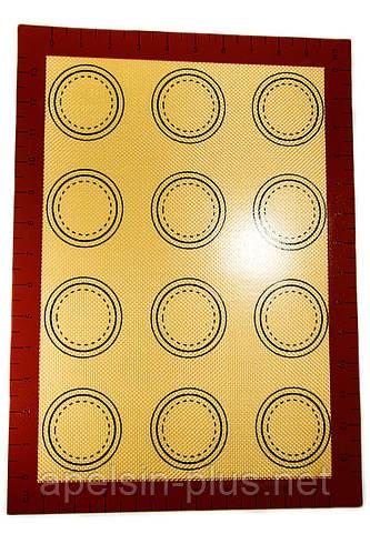 Силиконовый коврик термоволокно 30 см 40 см для макаронс