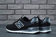 Мужские кроссовки New Balance 574 черные топ реплика, фото 3