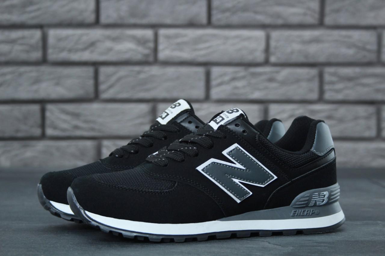 Мужские кроссовки New Balance 574 черные топ реплика