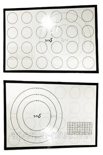 Силиконовый коврик термоволокно 42,5 см 28 см для макаронс