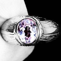 """Нежное кольцо с кунцитом  """"Лапушка"""", размер 18,8 от студии LadyStyle.Biz"""