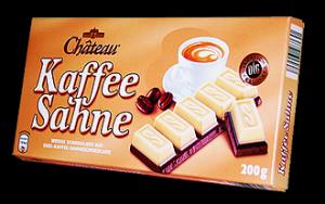Немецкий шоколад со вкусом капучино Chateau Kaffee Sahne, 200 гр.