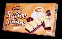 Немецкий шоколад со вкусом капучино Chateau Kaffee Sahne, 200 гр., фото 1