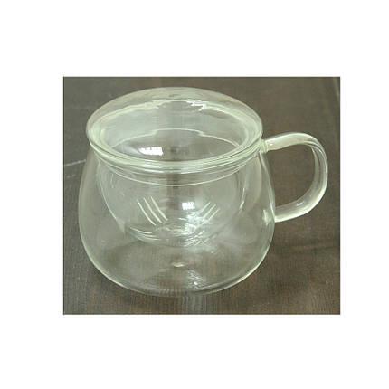 Стеклянная заварочная кружка с крышкой Белли, 400 мл  , фото 2
