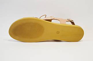 Босоножки со шнурками пудра Donna Ricco 8106, фото 3