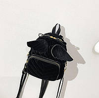 Рюкзак черный велюровый ( городской рюкзак )