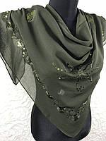 Платочки с вышивкой,паеткой,зубчиком (115-1-68)