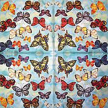 Салфетки декупажные с бабочками 414
