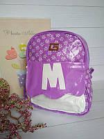 Рюкзак лаковый для девочки сиреневого цвета, фото 1