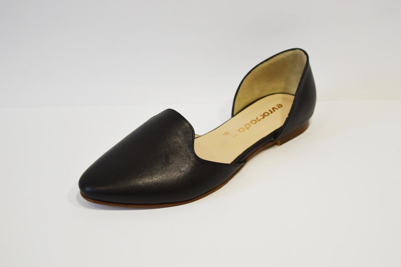 743afb72e03e Балетки кожаные черные Euromoda