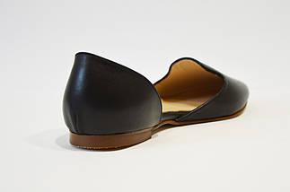 Балетки кожаные черные Euromoda, фото 2